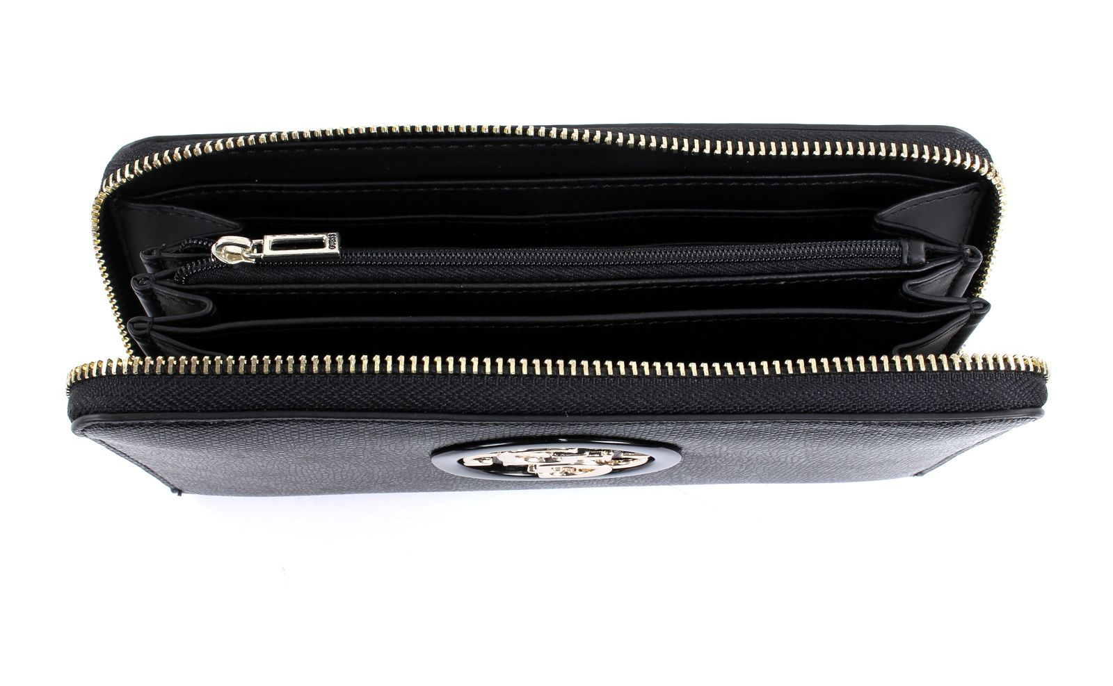 GUESS Open Road SLG Large Zip Around Black