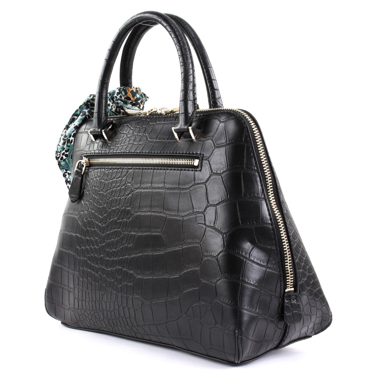 GUESS Anne Marie Dome Satchel Black 008ec5d93e22e