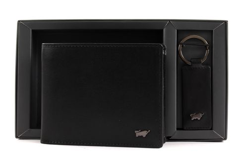 Braun Büffel Luxus Edition Wallet Cross & Keyfob Set Black