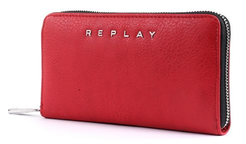 REPLAY Gusset Wallet Blood Red