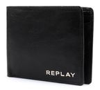 REPLAY Leather Wallet With Vintage Effect Black online kaufen bei modeherz