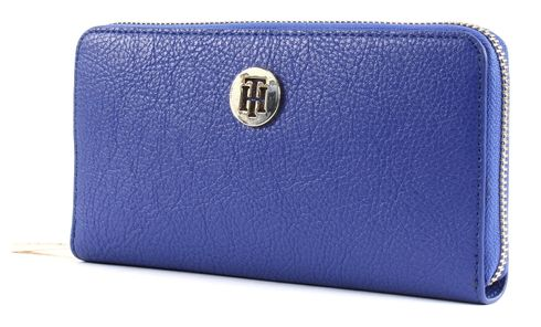 TOMMY HILFIGER TH Core Large Zip Around Wallet Mezarine Blue / June Bug