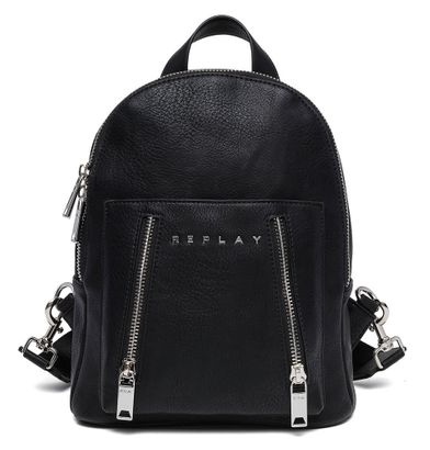 REPLAY Backpack With Double Zipper Black