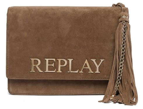 REPLAY Shoulder Bag Amber Brown