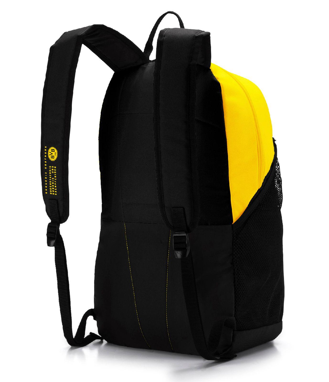 PUMA BVB Fan Backpack Puma Black Cyber Yellow