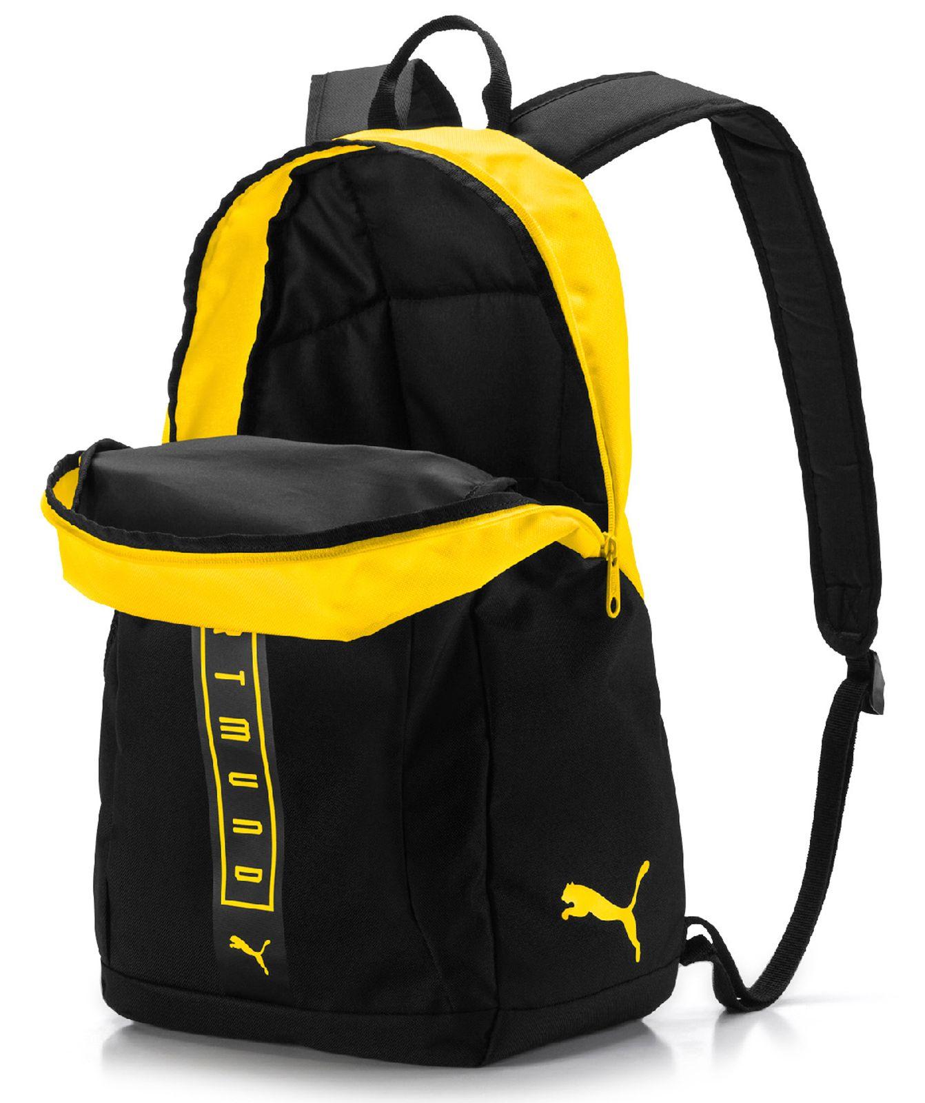 eca3a87d6118d PUMA BVB Fan Backpack Puma Black-Cyber Yellow 4060979166103
