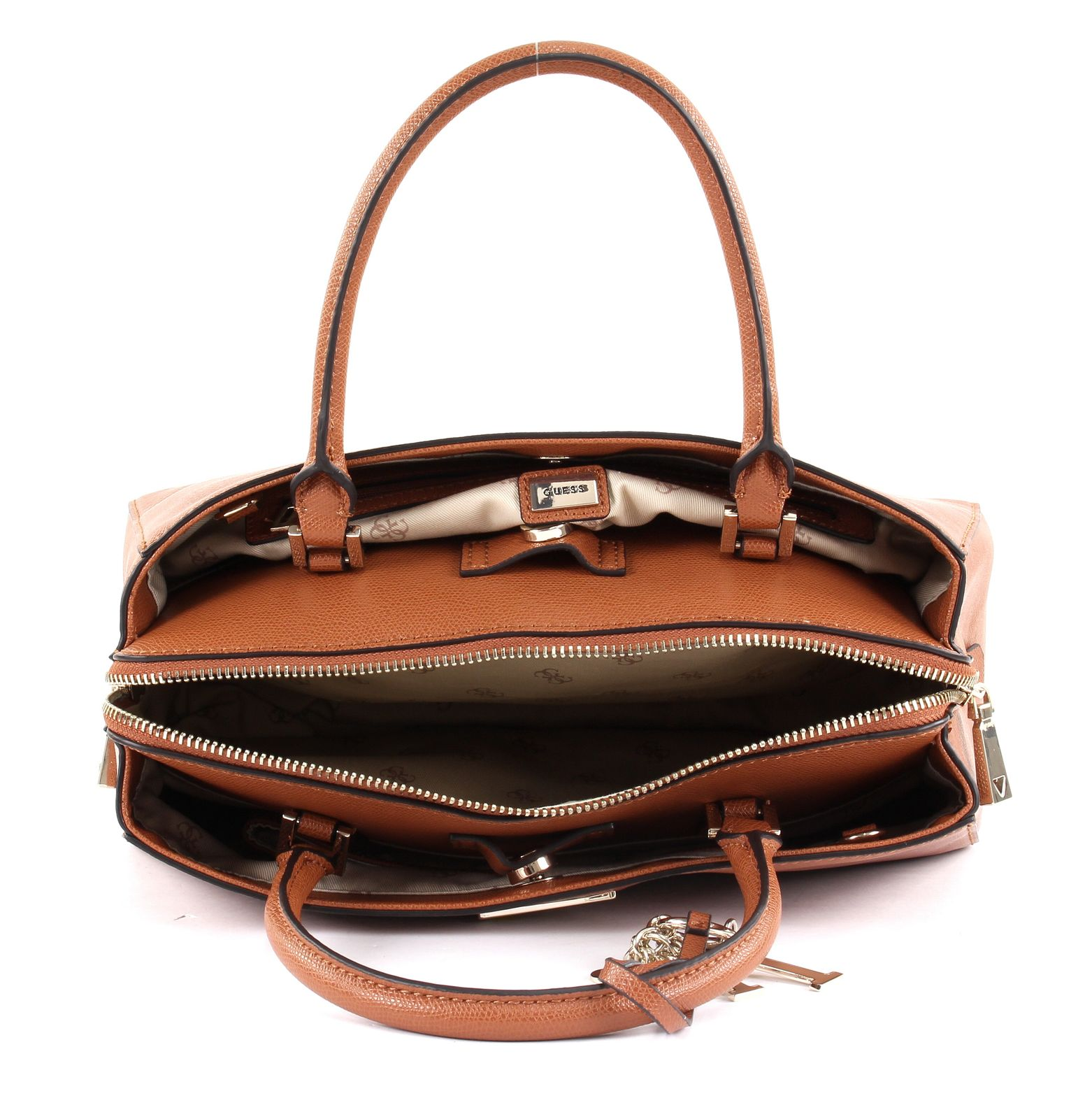GUESS Maddy Girlfriend Satchel Cognac 9977993644302