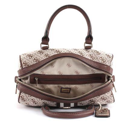 fbd24ac619b9f GUESS Handbag Guess Vintage Box Satchel Brown