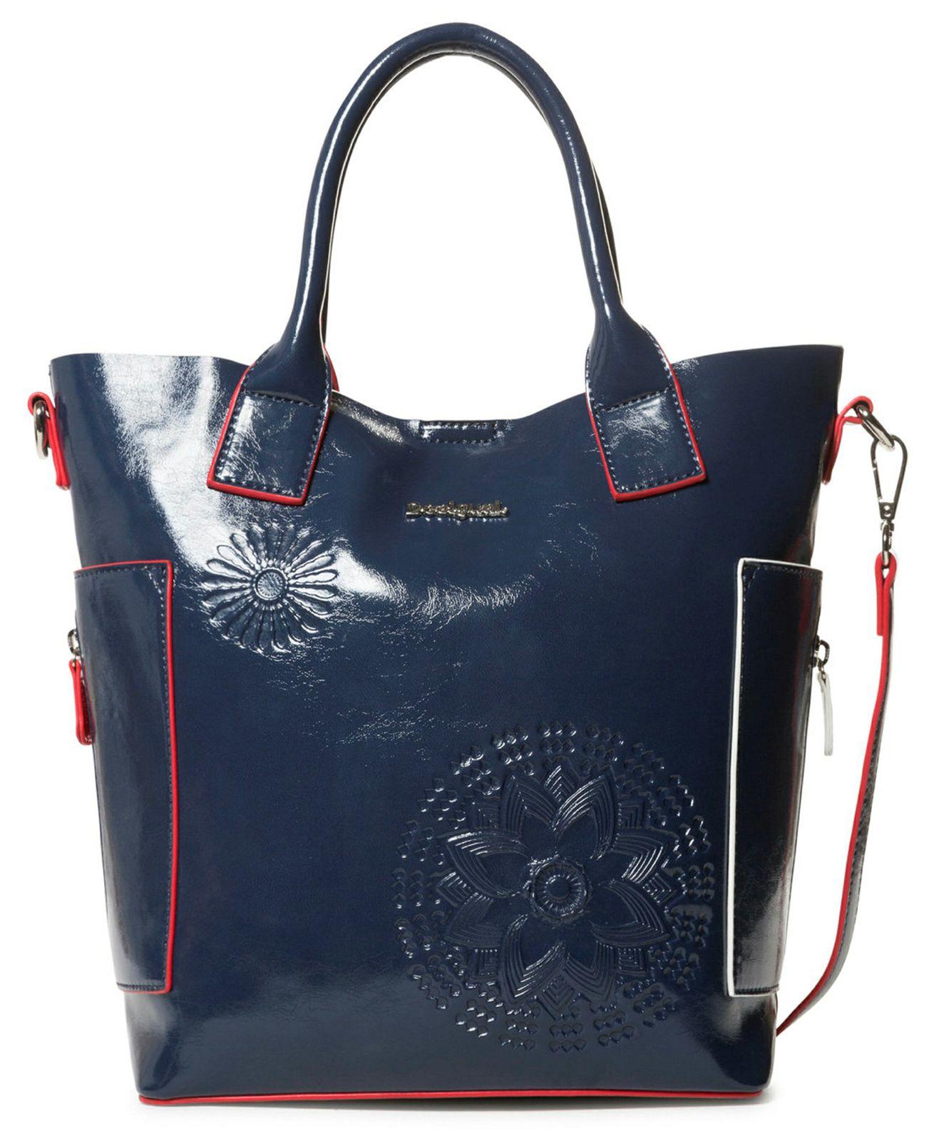di prim'ordine 909e7 08583 Desigual Pop Vinil Shibuya Hand Bag Navy