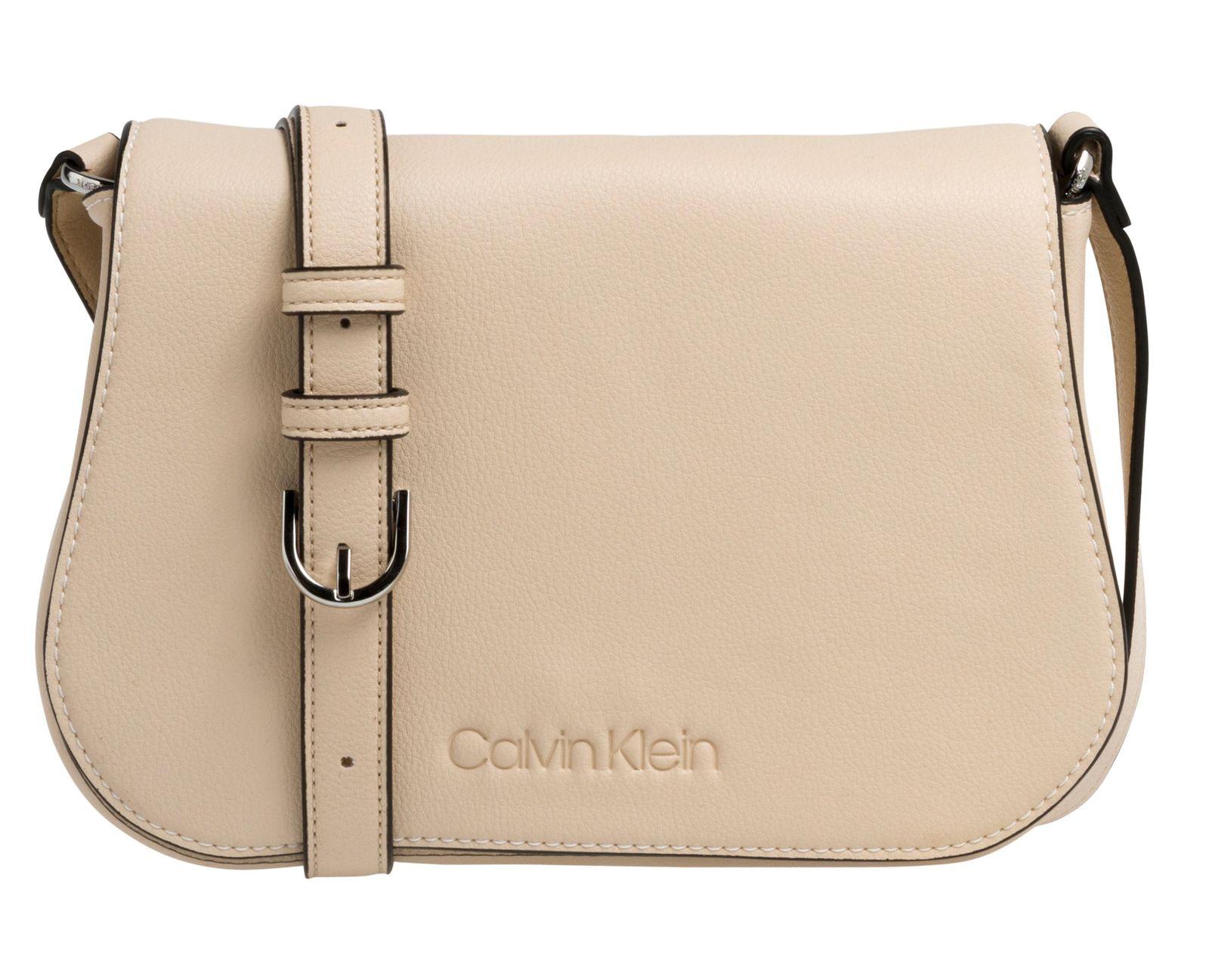 3b91a2f2317f0 Calvin Klein Slide Saddle Bag Light Sand