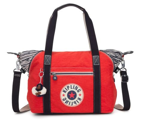 kipling Basic Eyes Wide Open Art Tote Active Red Bl