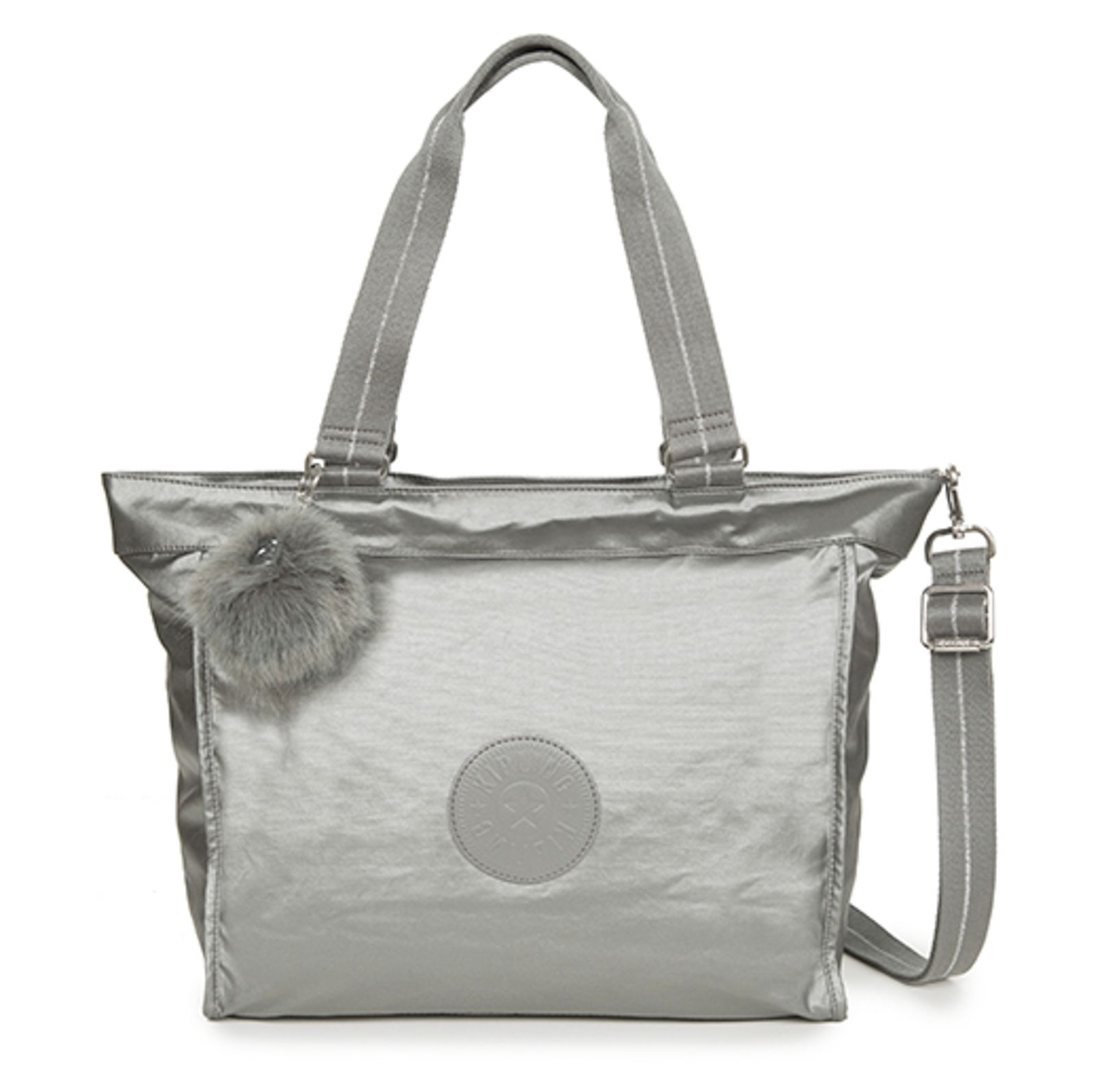 Bag Shopper L Large Metallic Stony Kipling New Tote DbEIHeW9Y2