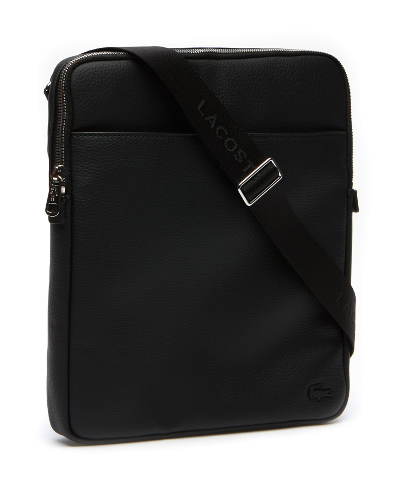 LACOSTE Gael L Flat Crossover Bag Umhängetasche Tasche Black Schwarz Neu