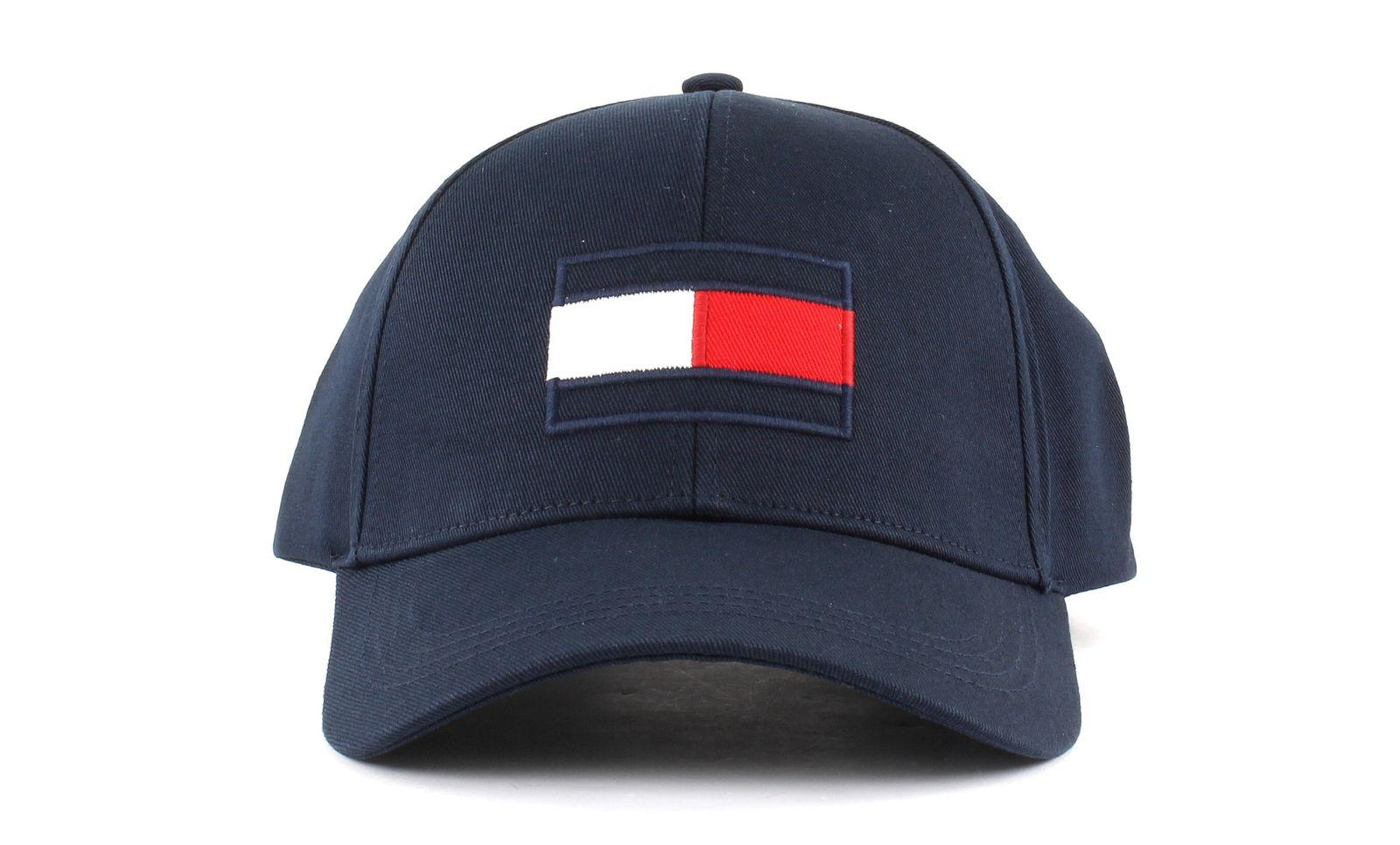Shop Tommy Hilfiger Mens TJM Flag Cap Black Online