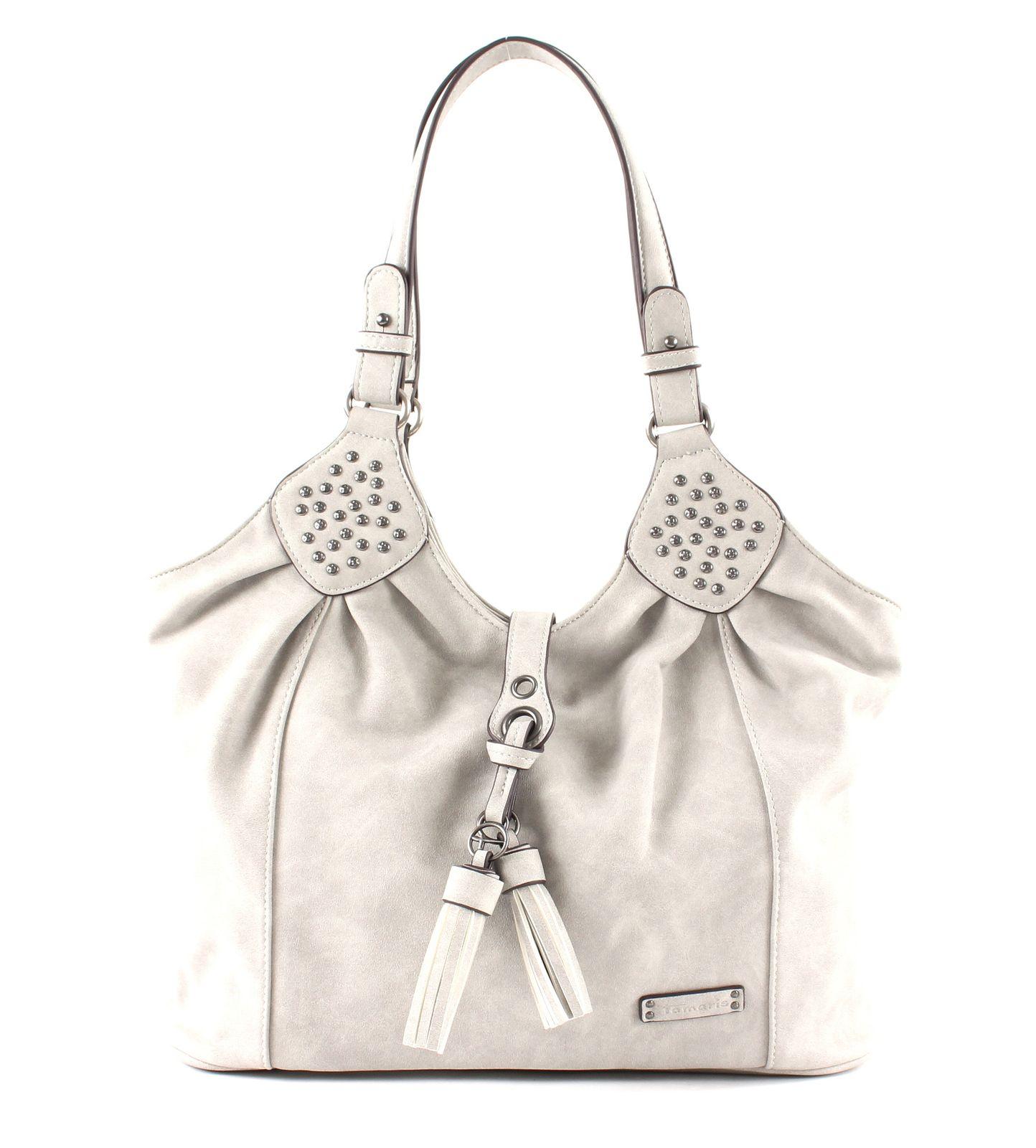 Details zu Tamaris Adelia Shoulder Bag Schultertasche Tasche Light Grey Grau Neu