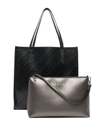 REPLAY Shoulder Bag Black