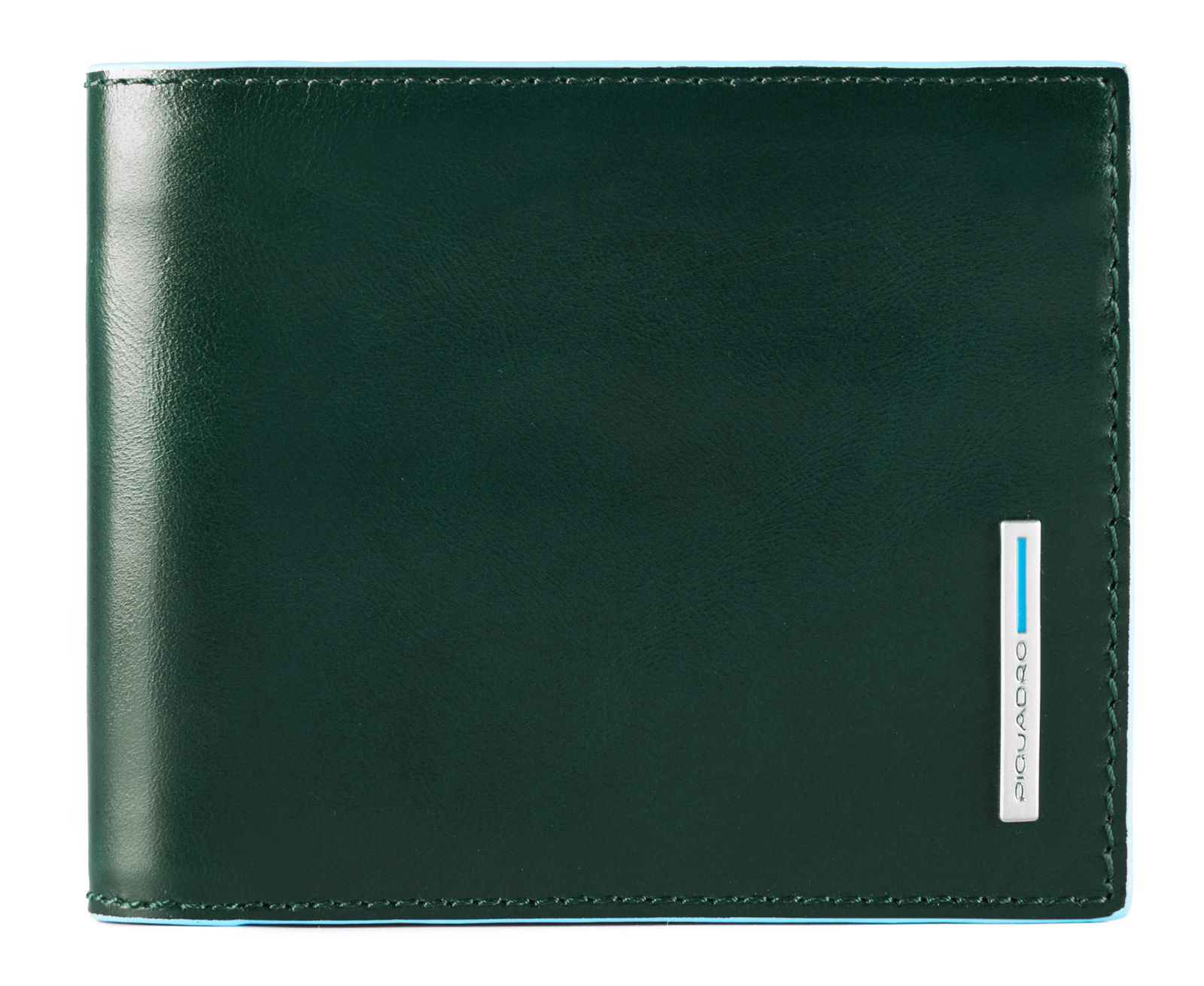 Piquadro Blue Square Men S Wallet Whit Removable Document Facility Verde Foresta
