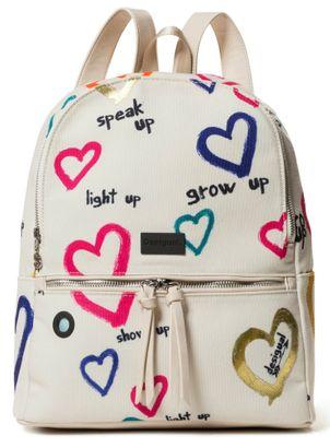 Desigual Natural Message Novara Backpack Crudo