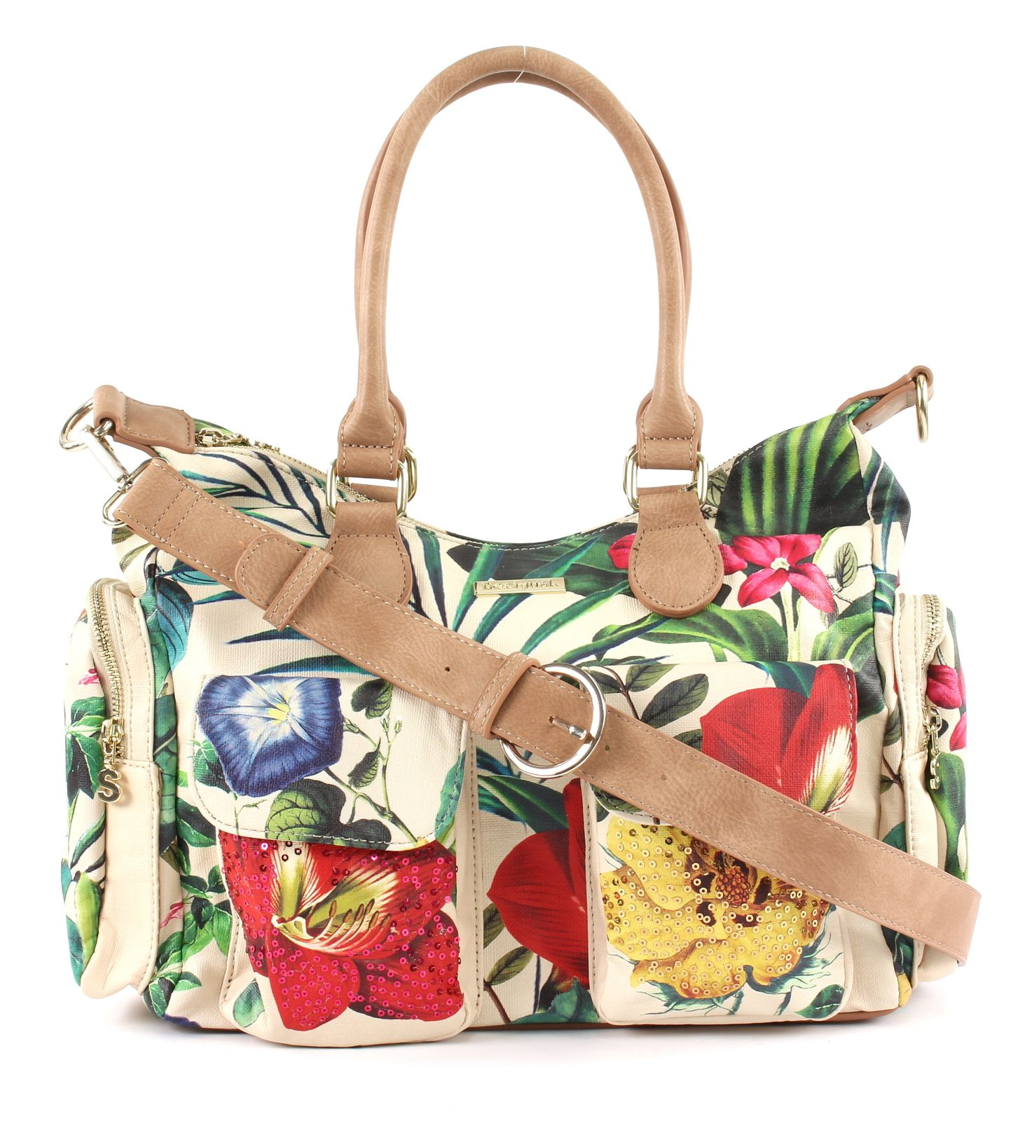 Desigual Clio London Shoulder Bag Crudo