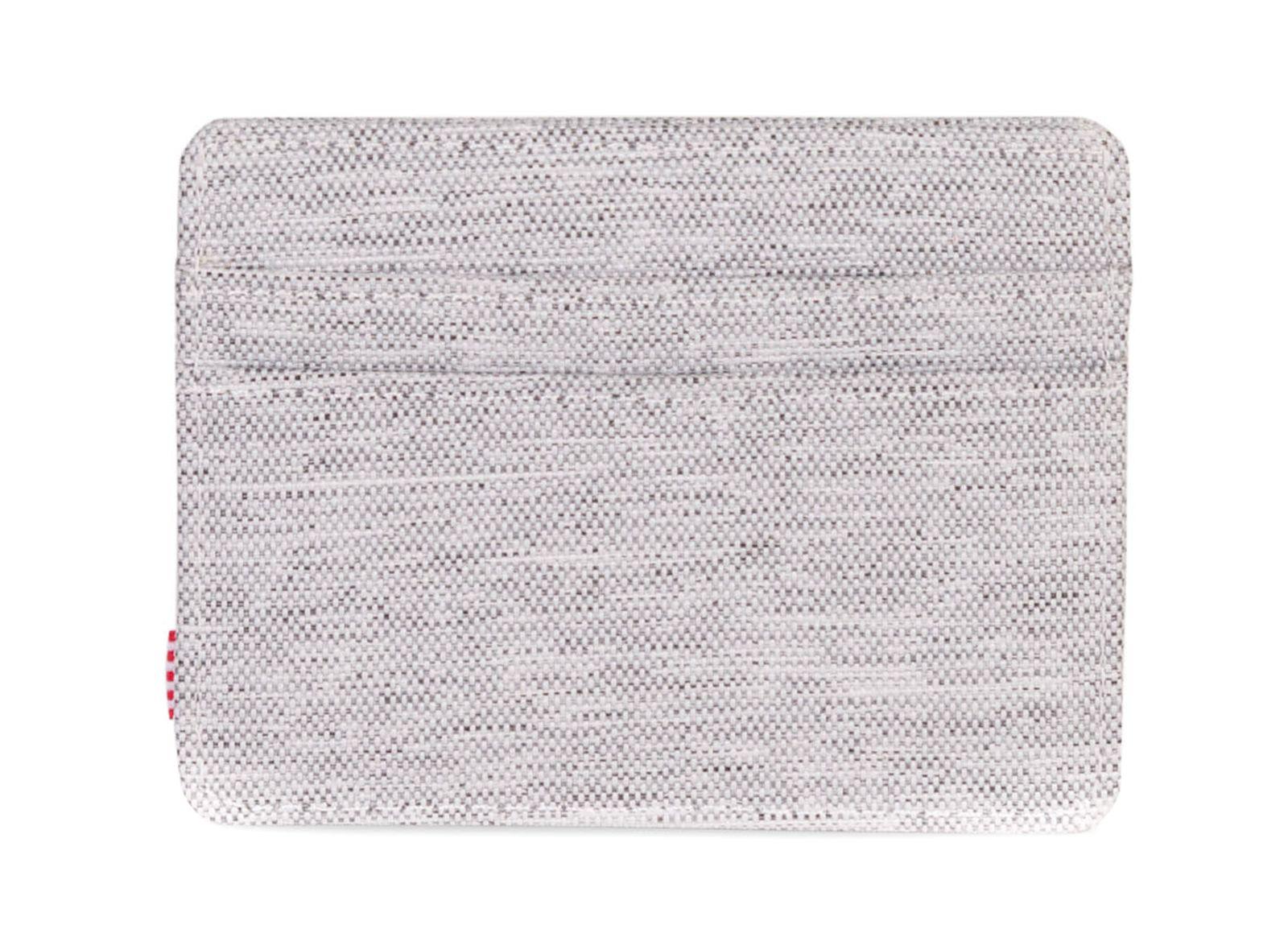 Herschel Charlie Rfid Wallet Light Grey Crosshatch