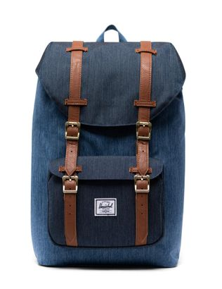 Herschel Little America Mid-Volume Backpack Faded Denim / Indigo Denim