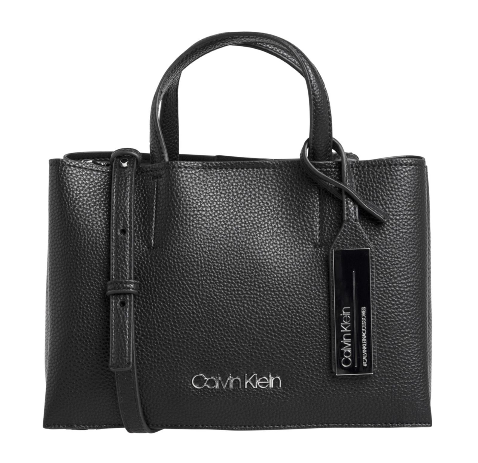 Calvin Klein Sided Medium Tote Black