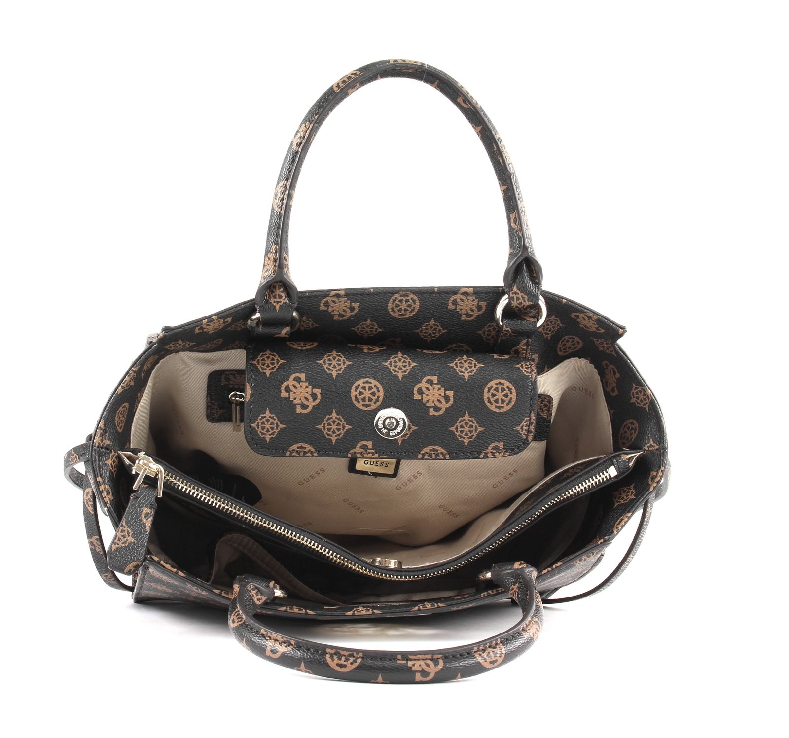 GUESS Open Road Society Satchel Brown