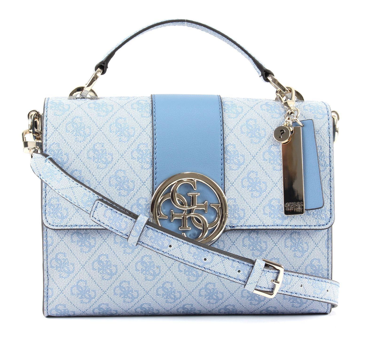 GUESS Bluebelle Top Handle Flap Blue