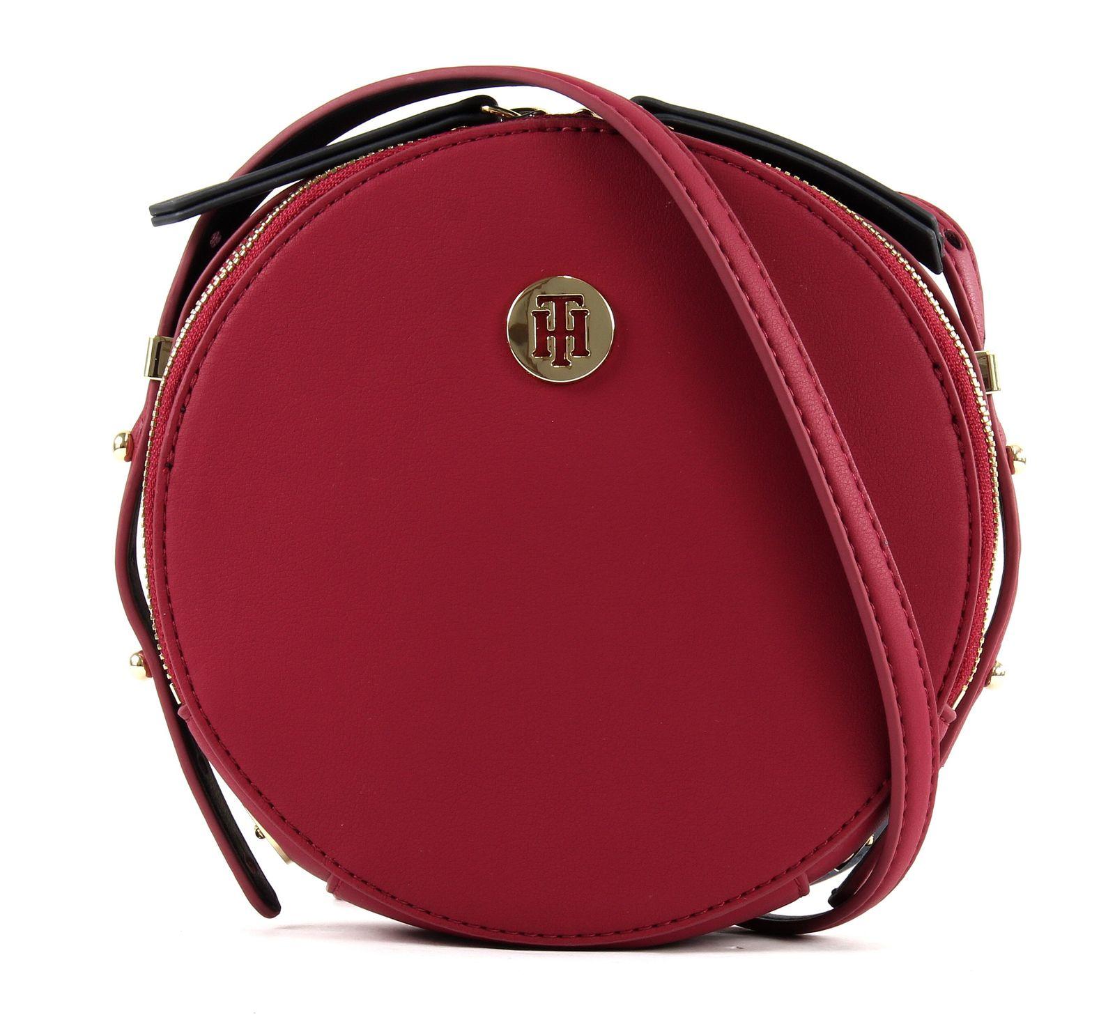 fbcb76bbc2957 TOMMY HILFIGER Modern Hardware Round Crossover Beet Red