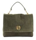 COCCINELLE Liya Suede Top Handle Bag Evergreen buy online at modeherz