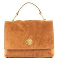 COCCINELLE Liya Suede Top Handle Bag Caramel buy online at modeherz