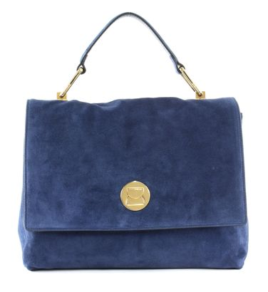 COCCINELLE Liya Suede Top Handle Bag Ink