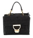 COCCINELLE Arlettis Suede Top Handle Bag Noir buy online at modeherz