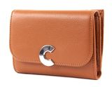 COCCINELLE Craquante Small Flap Wallet Caramel buy online at modeherz