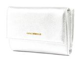 COCCINELLE Metallic Soft Flap Wallet Silver buy online at modeherz