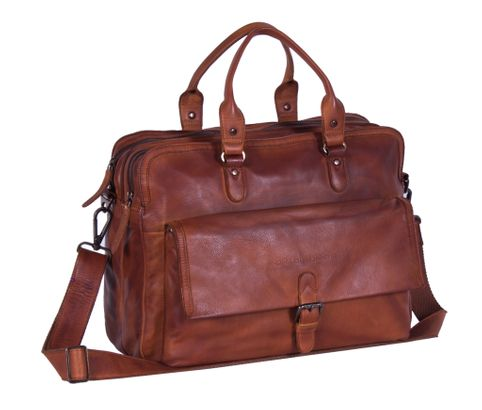 The Chesterfield Brand Johnny Computerbag Cognac