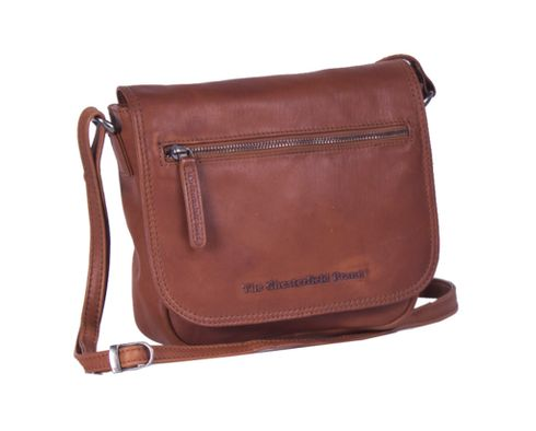 The Chesterfield Brand Cis Flap Crossover Bag Cognac