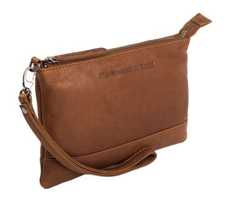 The Chesterfield Brand Sue Top Zipper Bag Cognac