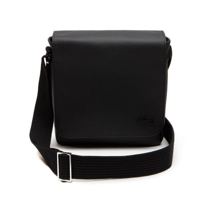 LACOSTE Men's Classic Flap Crossover Bag Black