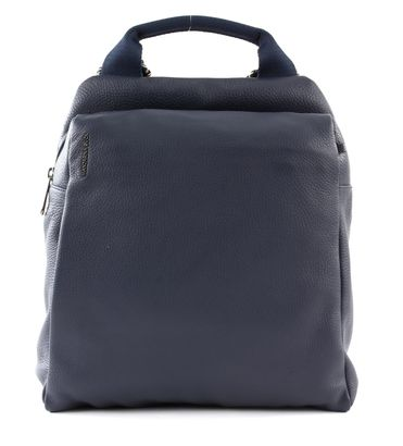 MANDARINA DUCK Mellow Leather Backpack S Dress Blue