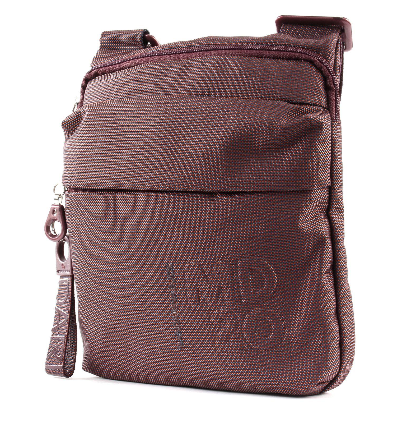 MANDARINA DUCK MD20 Small Crossover Umhängetasche Tasche Bouganville Rot Beige