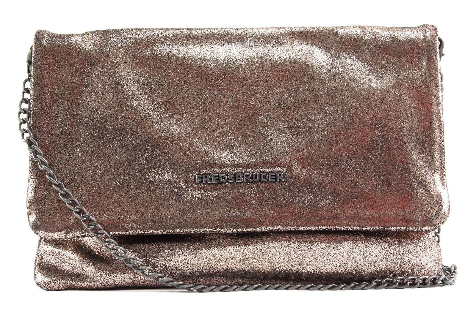 FREDsBRUDER Bright Small Clutch With Chain Rose Gold