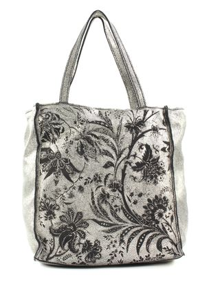 CATERINA LUCCHI Laser Shopping Bag Silver / Black Stained