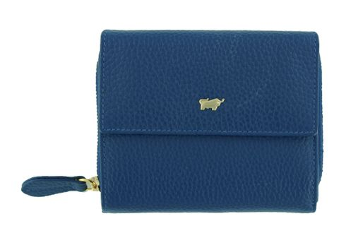 Braun Büffel Asti Zip Wallet M Denim