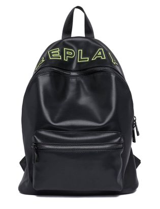 REPLAY Shiny Eco-Leather Backpack Black