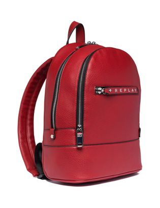 REPLAY Small Backpack Gloss Red