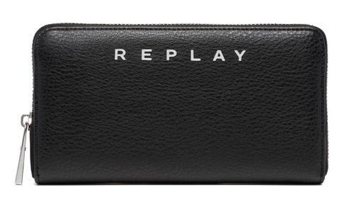REPLAY Gusset Wallet Black