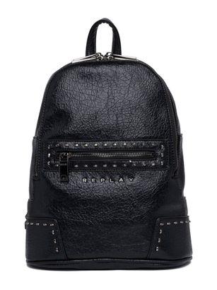 REPLAY Crinkle Small Backpack Black