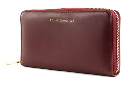 TOMMY HILFIGER Soft Turnlock Large Zip Around Wallet Cabernet