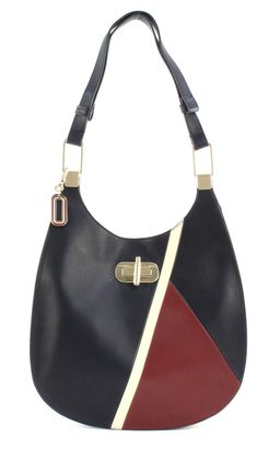 TOMMY HILFIGER Soft Turnlock Hobo Crossbody Sky Captain